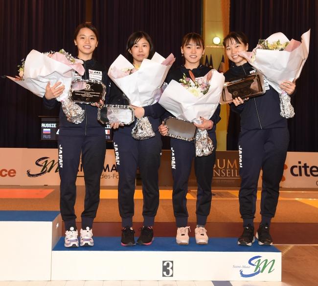 【東晟良】女子フルーレ W杯フランス大会 団体戦にて、3位となりました